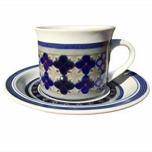 "SIX Vintage Royal Doulton ""Tangier"" Cups & Saucers"